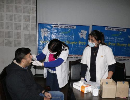 Dental Care Awareness Camp at DAVIET Jalandhar by Sujan Singh Dental